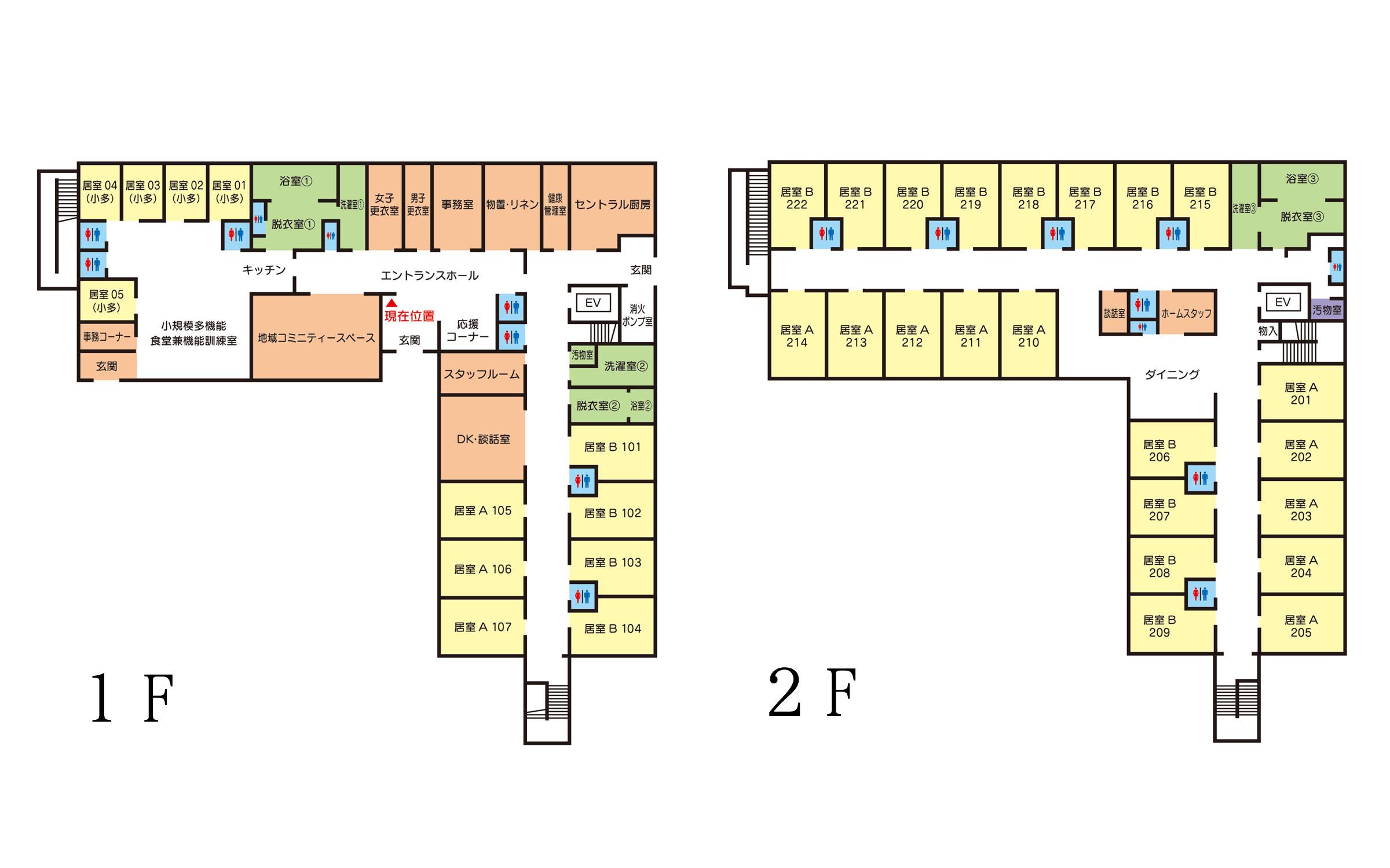 施設の案内図